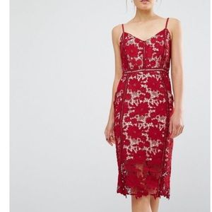 Beautiful red lace New Look dress